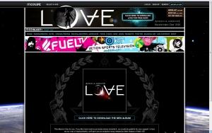Screenshot: modlife.com/angelsandairwaves/lovealbumfueltv