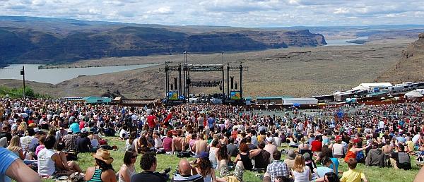 Das Sasquatch Festivalgelände The Gorge im Jahr 2008 (Foto: flickr / whittlz / CC-by-nc-sa)