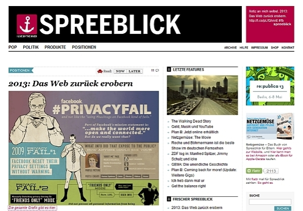 Screenshot: spreeblick.com