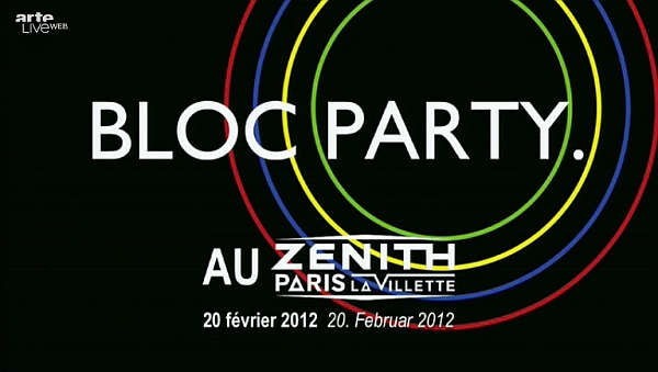 Bloc Party live in Paris (Screenshot: liveweb.arte.tv)