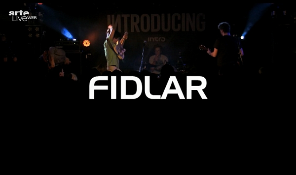 Fidlar live @ Bi Nuu, Berlin, 13/02/13 (Screenshot: liveweb.arte.tv)