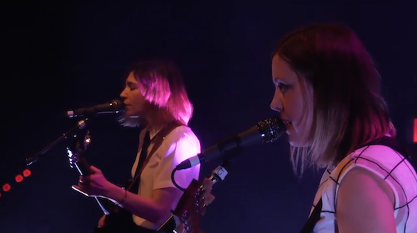 Sleater-Kinney live @ 9:30 Club, Washington, D.C., 24/02/15 (Screenshot: NPR)